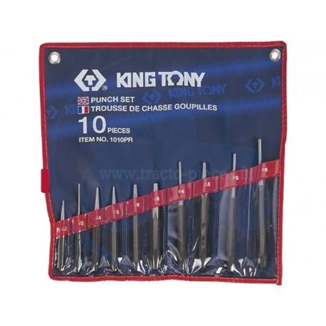 Trousse de Chasse-goupilles, Pointeaux et chasse-clous - 10 pièces - KING TONY