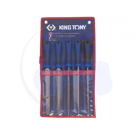Jeu de limes de 200mm - 5 pièces - KING TONY