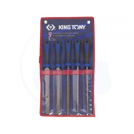 Jeu de limes de 250mm - 5 pièces - KING TONY