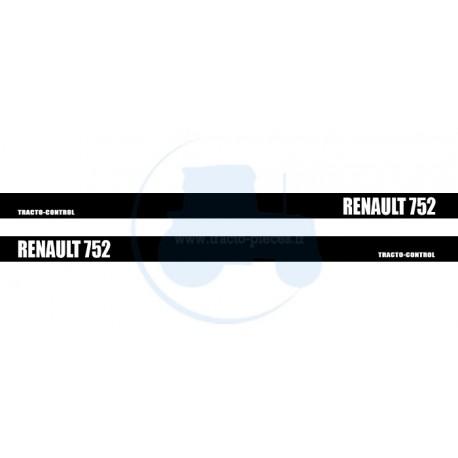 JEU DE 2 AUTOCOLLANTS pour tracteur RENAULT 752
