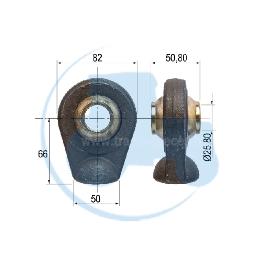ROTULE A SOUDER diamètre intérieur 25,80 mm pour tracteurs Divers