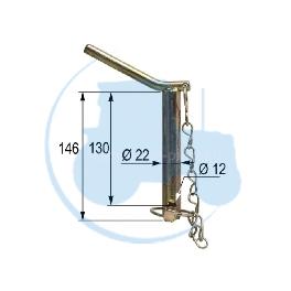 CHEVILLE diamètre 22 mm longueur 130 mm pour tracteurs Divers