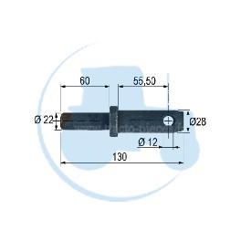 PITON A SOUDER diamètre 28 mm pour tracteurs Divers
