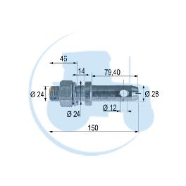 PITON A VISSER diamètre 28 mm pour tracteurs Divers