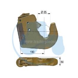 CROCHET INFERIEUR CATEGORIE 4 longueur 180 mm pour tracteurs Divers