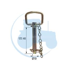 AXE A POIGNEE diamètre 19 mm longueur 122,4 mm pour tracteurs Divers
