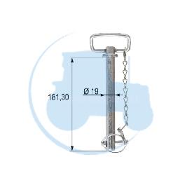 AXE A POIGNEE diamètre 19 mm longueur 181,3 mm pour tracteurs Divers