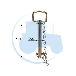 AXE A POIGNEE diamètre 22 mm longueur 181,3 mm pour tracteurs Divers
