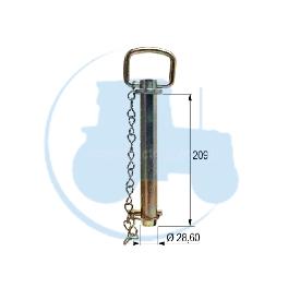 AXE A POIGNEE diamètre 28,6 mm longueur 209 mm pour tracteurs Divers