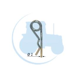 GOUPILLE DOUBLE SPIRE Diamètre 2 pour tracteurs Divers