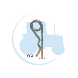 GOUPILLE DOUBLE SPIRE Diamètre 3 pour tracteurs Divers