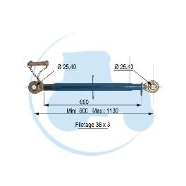 TROISIEME POINT longueur mini 800 maxi 1130 mm pour tracteurs Divers