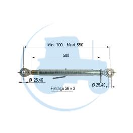 TROISIEME POINT longueur mini 700 maxi 880 mm pour tracteurs Divers