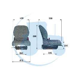 SIEGE COMPACTO L pour tracteurs Divers