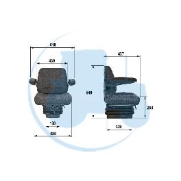 SIEGE TISSU pour tracteurs Divers