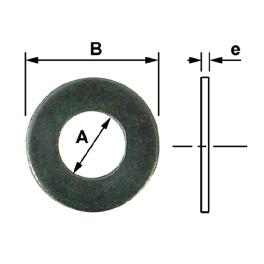 RONDEL. PLATES POUR VIS D.48 BRUTE (BTE DE 5)
