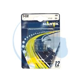 AMPOULE TEMOIN T4W 12V 4W NARVA - BLISTER DE 2
