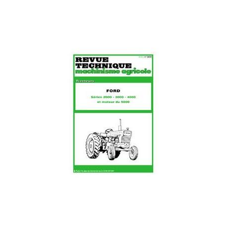 Équipements Professionnels Revue Technique Tracteur Ford 2000 3000 4000 5000 Dexta Major Super