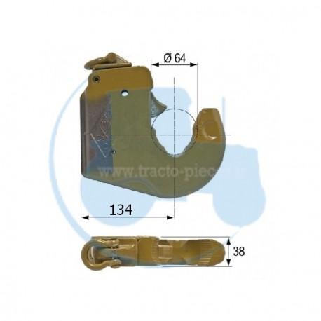 CROCHET INFERIEUR CATEGORIE 3 longueur 134 mm pour tracteurs Divers