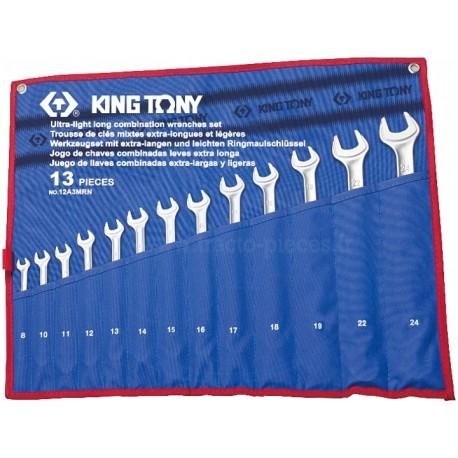 Trousse de clés mixtes longues et légères - 13 pièces - KING TONY
