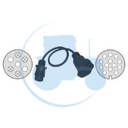 ADAPTATEUR 7-13 POLES CABLES pour tracteurs Divers