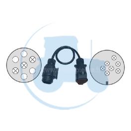 ADAPTATEUR 13-7 POLES CABLES pour tracteurs Divers