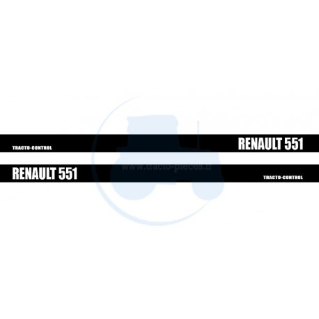 JEU DE 2 AUTOCOLLANTS pour tracteur RENAULT 551