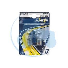 AMPOULE POIRETTE 12V 21-5W NARVA - BLISTER DE 2