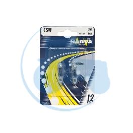 AMPOULE NAVETTE C5W 12V 5W NARVA - BLISTER DE 2