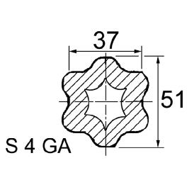TUBE PROFIL S4GA LG.1000 37X51