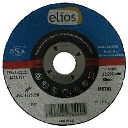 DISQUE EBARB.125X6,5X22,2 MOYEU DEPORTE ELIOS
