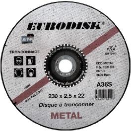 DISQUE A TRONCONNER 230x2,5x22,2 ACIER/INOX