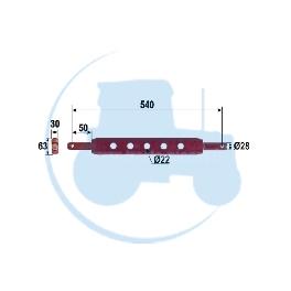 BARRE A TROUS diamètre 28 longueur 540 mm pour tracteurs Divers