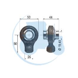 ROTULE A SOUDER diamètre intérieur 19,40 mm pour tracteurs Divers