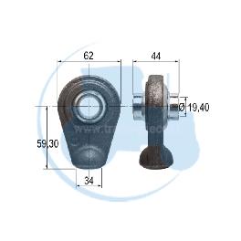 ROTULE A SOUDER diamètre inérieur 19,40 mm pour tracteurs Divers