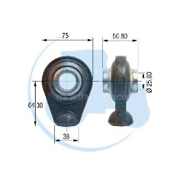 ROTULE A SOUDER diamètre intérieur 25,8 mm pour tracteurs Divers