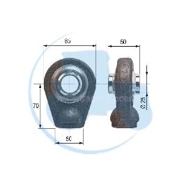 ROTULE A SOUDER diamètre intérieur 25 mm pour tracteurs Divers