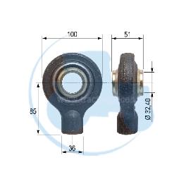 ROTULE A SOUDER diamètre intérieur 32,40 mm pour tracteurs Divers