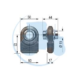 ROTULE A SOUDER diamètre intérieur 19 mm pour tracteurs Divers