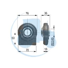 ROTULE A SOUDER diamètre intérieur 22,60 mm pour tracteurs Divers