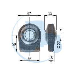 ROTULE A SOUDER diamètre intérieur 22.6 mm pour tracteurs Divers