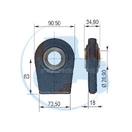 ROTULE A SOUDER diamètre intérieur 28,90 mm pour tracteurs Divers