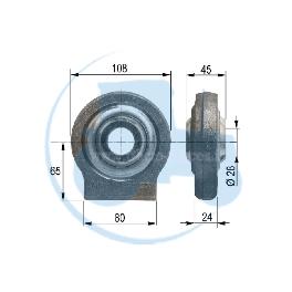 ROTULE A SOUDER diamètre intérieur 28 mm pour tracteurs Divers