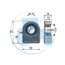 ROTULE A SOUDER diamètre 16 mm pour tracteurs Divers