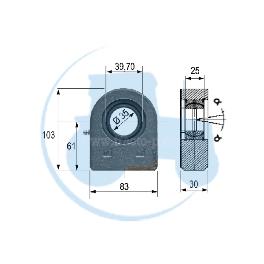 ROTULE A SOUDER diamètre intérieur 35 mm pour tracteurs Divers