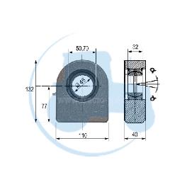 ROTULE A SOUDER diamètre intérieur 45 mm pour tracteurs Divers