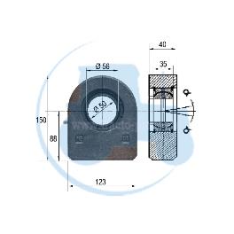 ROTULE A SOUDER diamètre intérieur 50 mm pour tracteurs Divers