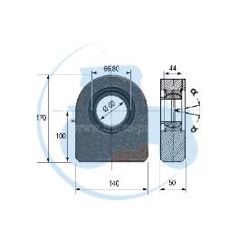 ROTULE A SOUDER diamètre intérieur 60 mm pour tracteurs Divers