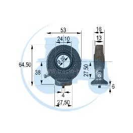 ROTULE A SOUDER diamètre intérieur 20 mm pour tracteurs Divers