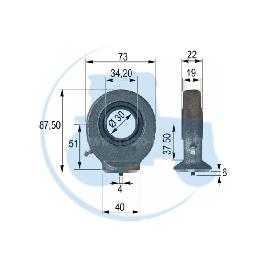 ROTULE A SOUDER diamètre intérieur 30 mm pour tracteurs Divers